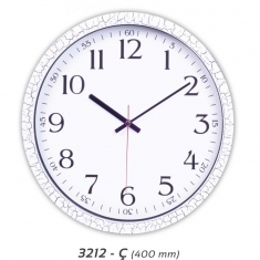 Çatlak Desenli Plastik Duvar Saati (400 mm)