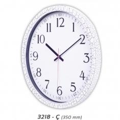 Çatlak Desenli Plastik Duvar Saati (350 mm)